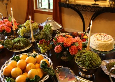 A medieval feast suitable for this Mediterranean mansion