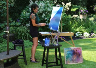 Artist Drea Pannetta, en plein air painter