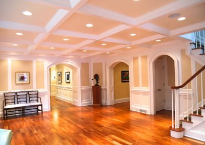 Brighton, NY - Houston Barnard Neighborhood, Ballroom-sized foyer with coffered ceiling