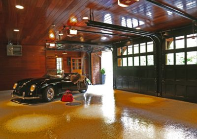 Brighton, NY, Houston Barnard Neighborhood, Paneled three car garage show room