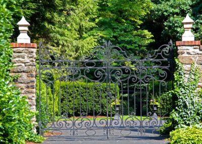 Houston Barnard neighborhood, Brighton, NY - Grand gate welcomes visitors