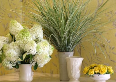 Our team's love of gardening and our stager's background as a florist, means our flowers are artfully and exquisitely arranged.