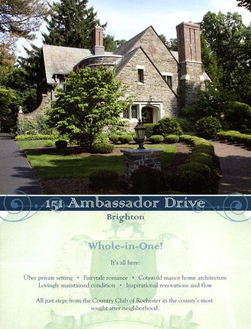 Property brochure cover, 151 Ambassador Dr., Brighton, NY