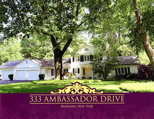 Property brochure cover, 333 Ambassador Dr., Brighton, NY