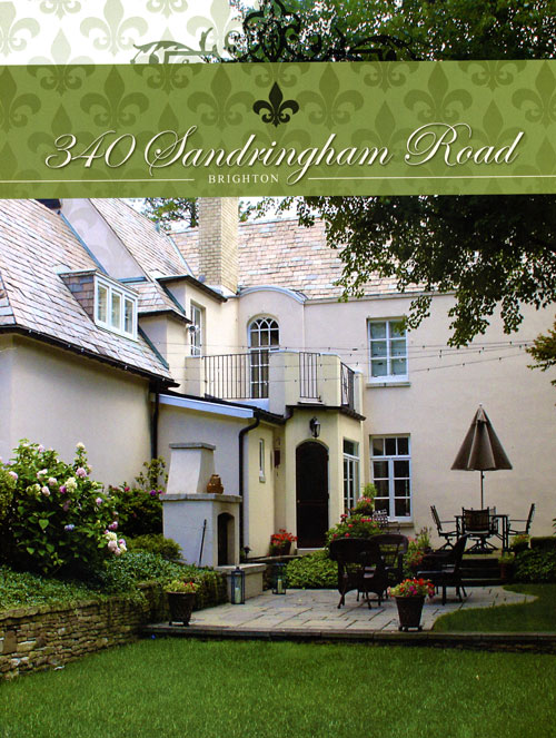 Property brochure cover, 340 Sandringham Rd., Brighton, NY